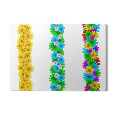 Kolorowych kwiatów elementów dla ramek strony