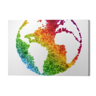 Abstrakcyjny symbol Ziemia - globalne ocieplenie koncepcji