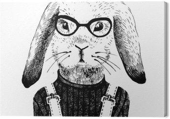 Ilustracja ubrana dziewczyna królika