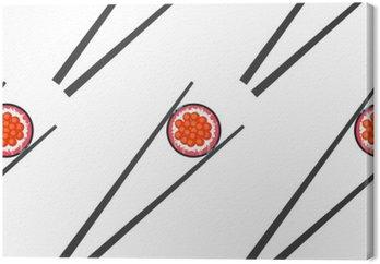 Sushi i pałeczki wektor szwu