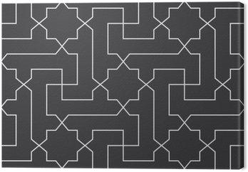 Bezproblemowa czarno-biały klasyczny arabski przekątnej krzyż i gwiazda wektor wzór