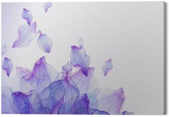 Watercolor card with Purple flower petal