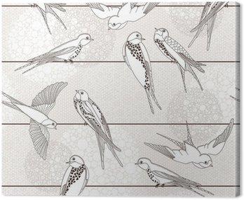 Streszczenie powtarzalne. Ptak na drutach.