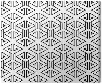 Abstrakcyjne geometryczne czarno-białe hipster wzór mody poduszki