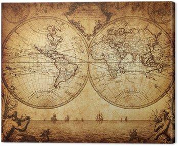Vintage, mapa świata 1733
