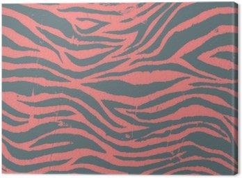Vintage zebra black and red pattern