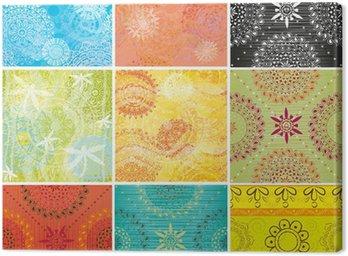 Duży zestaw tekstur z indyjskimi wzorami