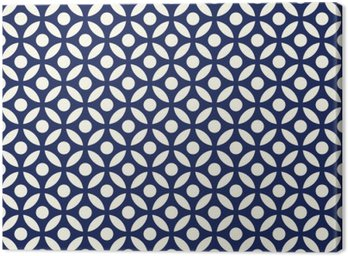 Seamless porcelain indigo blue and white arabic round pattern vector