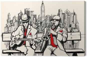 two jazz men playing in New York
