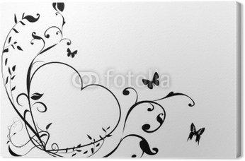 Czarno-białe serce