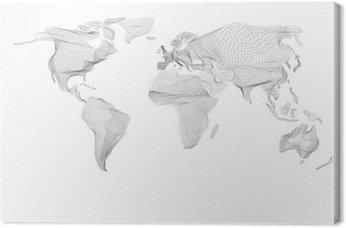 Mapa świata. Streszczenie rocznika grafiki komputerowej z czarnymi liniami