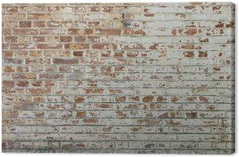 Tło starego rocznika brudne ściany z cegły z peelingiem gipsu