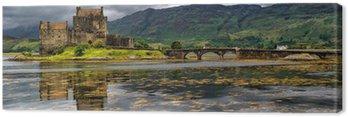 Panoramiczny z Eilean Donan Castle, Highlands, Szkocja