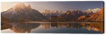 Mont Blanc oraz Alpy odzwierciedlone w White Lake