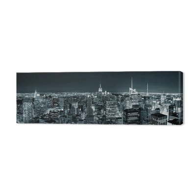 New York City Manhattan skyline w nocy