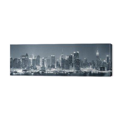 New York City Manhattan w czerni i bieli