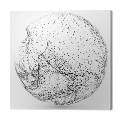 Nieregularne abstrakcyjne grafiki, dynamiczna kompozycja ziaren.