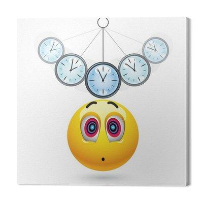 Smiley piłka zahipnotyzowana z zegarem