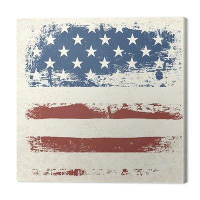 American flag zabytkowe teksturę tła. Vector, EPS10
