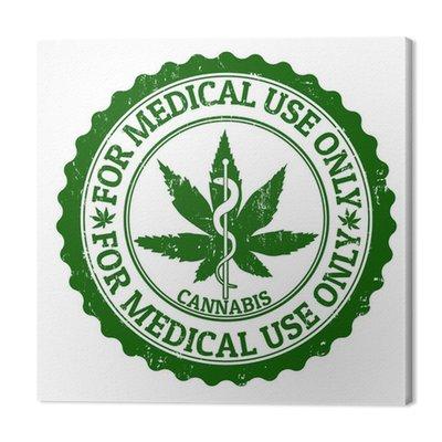 Medyczna marihuana stamp