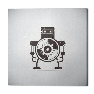 Retro robot kreskówki