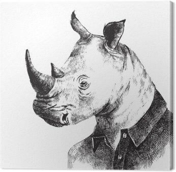 Wyciągnąć rękę przebrany Rhino w stylu hipster
