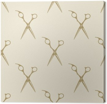 Nożyczki wzór płytki bez szwu rocznika tle fryzjera symbol godło etykieta kolekcji