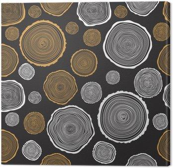 Drzewo Rings Jednolite wektor wzorca