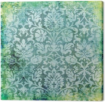 green vintage lacy background