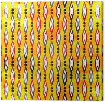 Kolorowe abstrakcyjne geometryczne elementy na rysunku wektor szwu żółtym tle