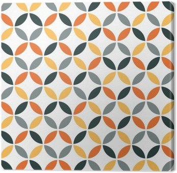 Orange Geometric Retro Seamless Pattern
