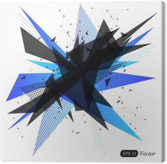 Streszczenie niebieski trójkąt geometryczne nowoczesne tło wektor. Streszczenie eksplozja. ilustracji wektorowych.