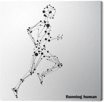 Abstract człowiek działa