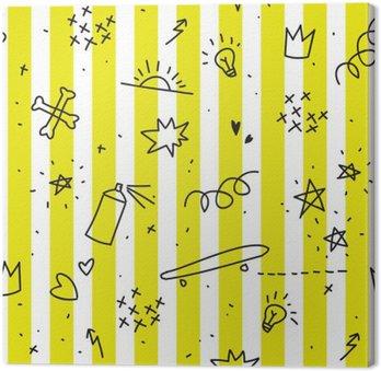 Nastolatka tematem szwu z żółtymi paskami