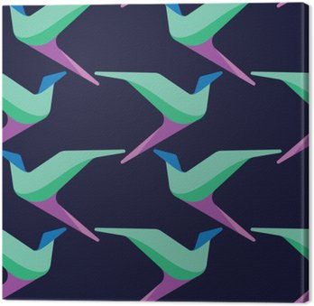 Abstract and contemporary birds seamless surface pattern design