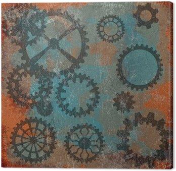 Steam punk grunge z zegarem wheels__
