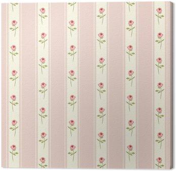 Słodkie szwu Shabby Chic z róż i kropki idealnych dla kuchni tekstylnego lub materiału bielizny pościelowej, zasłon lub wnętrz tapety projektowania, może być stosowany do rezerwacji złomu papieru etc