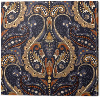 Seamless Paisley background, floral pattern. Indian ornament