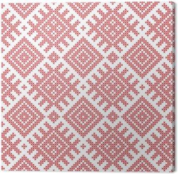 Jednolite wzór rosyjska ludowa, krzyż szyte hafty imitacją. Wzory składają starożytnych amuletów słowiańskich. Swatch zawarte w pliku wektorowego.