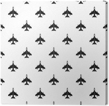 Fighter wzór jet. Prosta ilustracja jet fighter Wektor wzorzec dla sieci