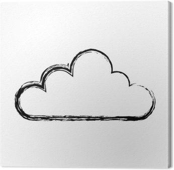Cloud computing izolowane ikona ilustracja wektora projektowania