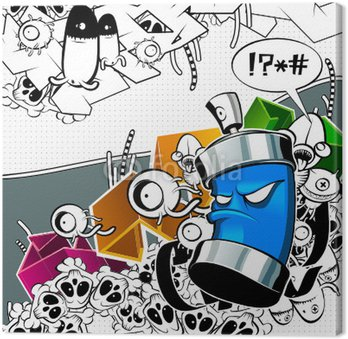 Obraz na Plátně Graffiti