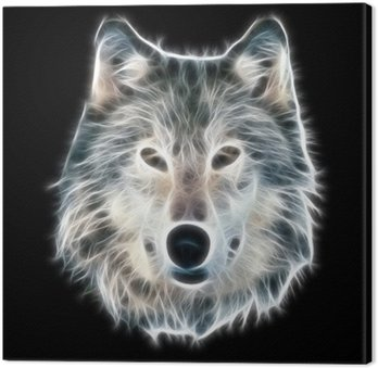 Fractal ilustracji wilka