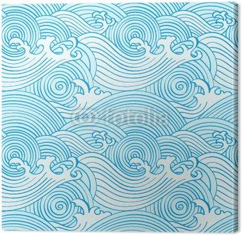 Japońskie fale oceanu powtarzalne wzór w kolorach