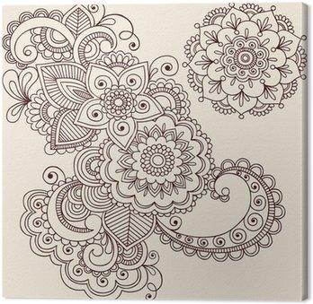 Paisley abstrakcyjne henna tatuaż wektor kwiatów doodles
