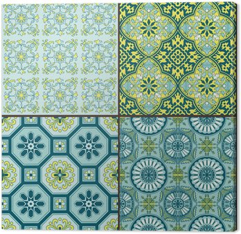 Seamless Vintage Background Collection - Victorian Colorful Tile