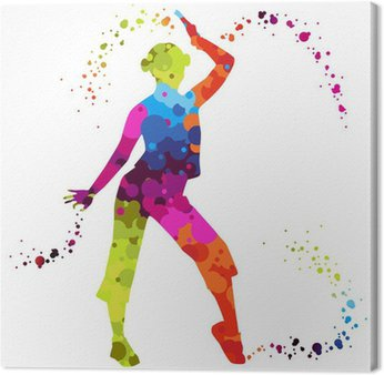 zumba with colored dots