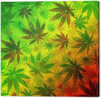 Wzór liści konopi marihuany