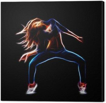 Kobieta tancerz hip-hop