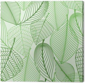 Zielone liście bezszwowe tło wzór